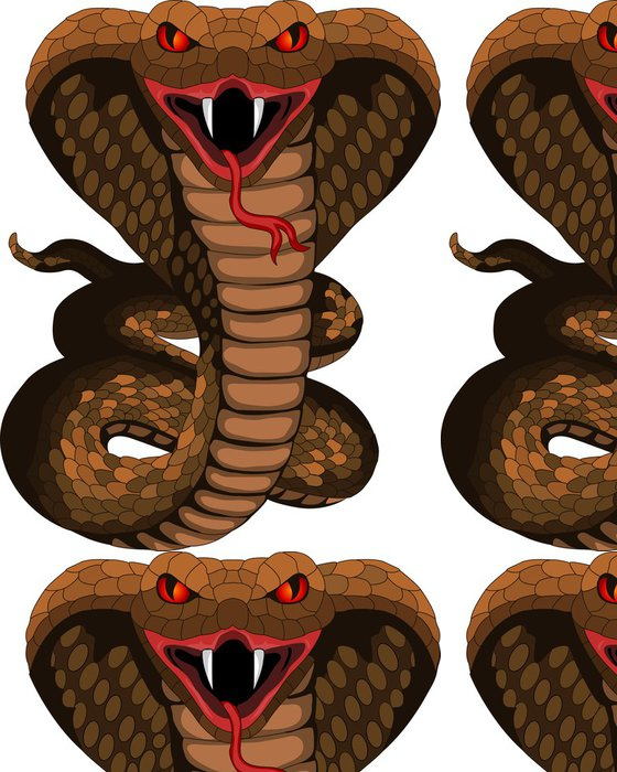Tapeta Pixerstick Cobra tetování - Ostatní Ostatní