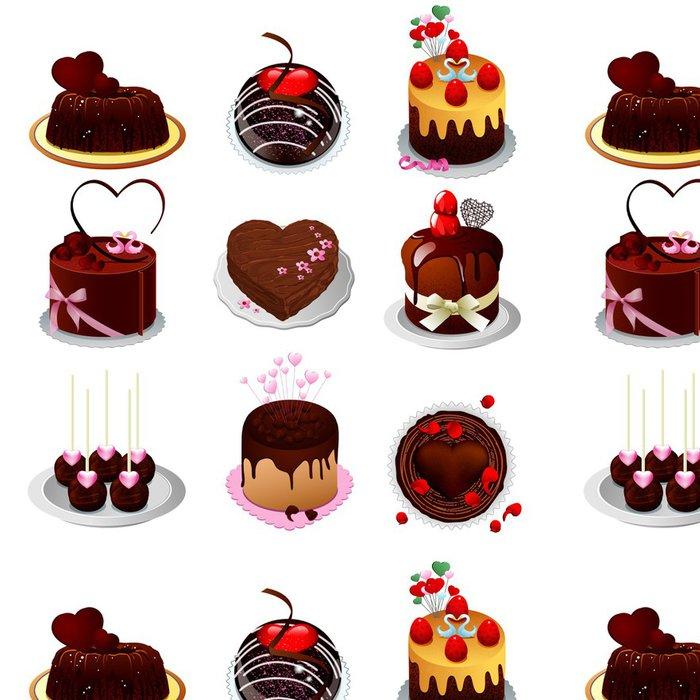 Tapeta Pixerstick Čokoládový dort - Do předsíně