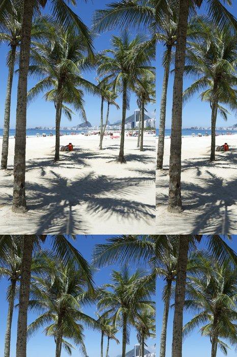 Tapeta Pixerstick Copacabana Beach Rio de Janeiro Palmy - Americká města