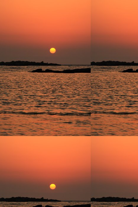 Tapeta Pixerstick Creta tramonto v spiaggia - Prázdniny