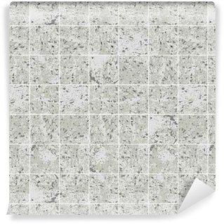 Tapeta Pixerstick Čtvercové dlaždice betonová šedá grunge textury bezešvé vzor, vektor