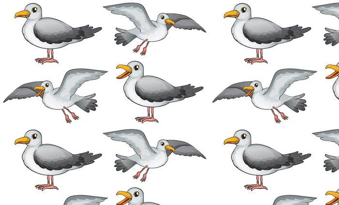 Vinylová Tapeta Čtyři ptáci - Ptáci