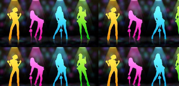 Tapeta Pixerstick Čtyři sexy modelky v nočním klubu - Žena