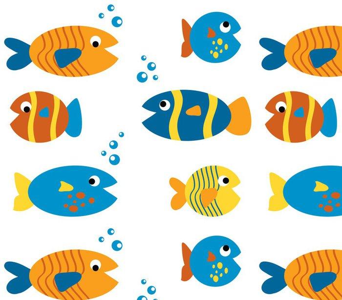 Tapeta Pixerstick Cute Fish Set - Vodní a mořský život