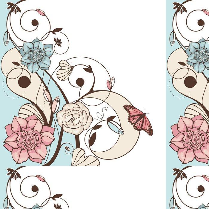 Tapeta Pixerstick Cute květinové vektorové ilustrace - Pozadí