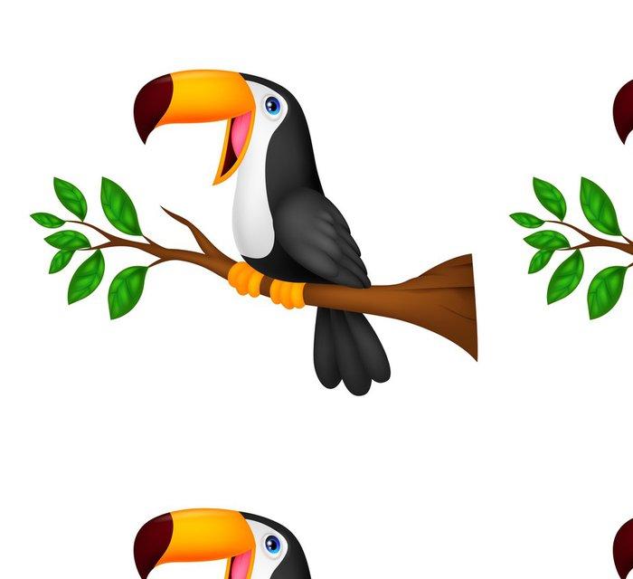 Tapeta Pixerstick Cute tukan pták kreslený - Přírodní krásy