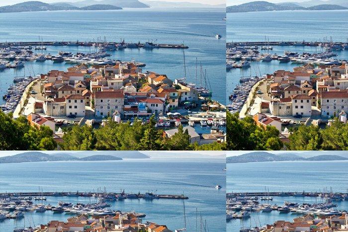 Tapeta Pixerstick Dalmatin město Tribunj, Vodice letecký pohled - Evropa