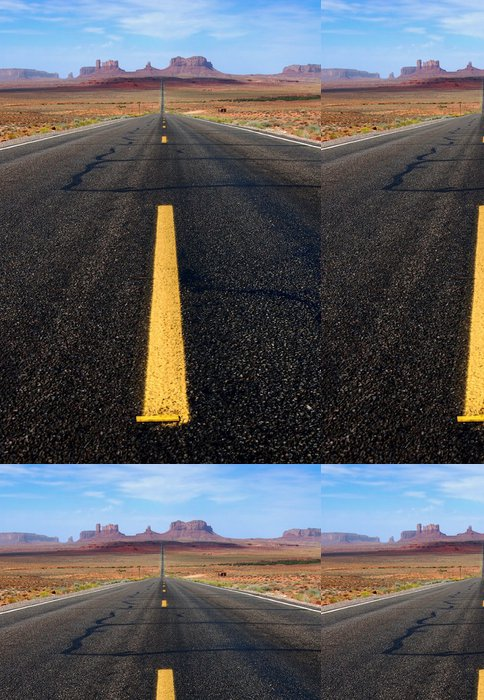 Vinylová Tapeta Dálnice do Monument Valley - Témata