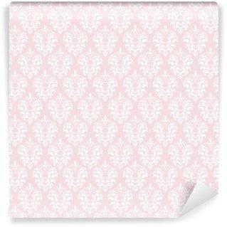 Vinylová Tapeta Damask bezproblémové pozadí v pastelově růžová.