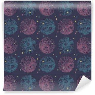 Vinylová Tapeta Dark abstraktní kruh vzoru
