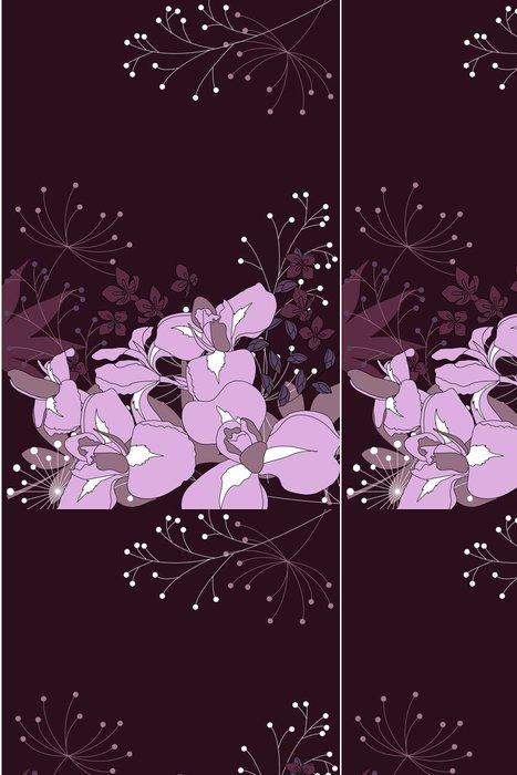 Tapeta Pixerstick Dark květinové pozadí s vrstevnicemi kosatců a rostlin - Pozadí