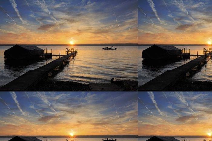 Vinylová Tapeta Dawn na jezeře - Témata