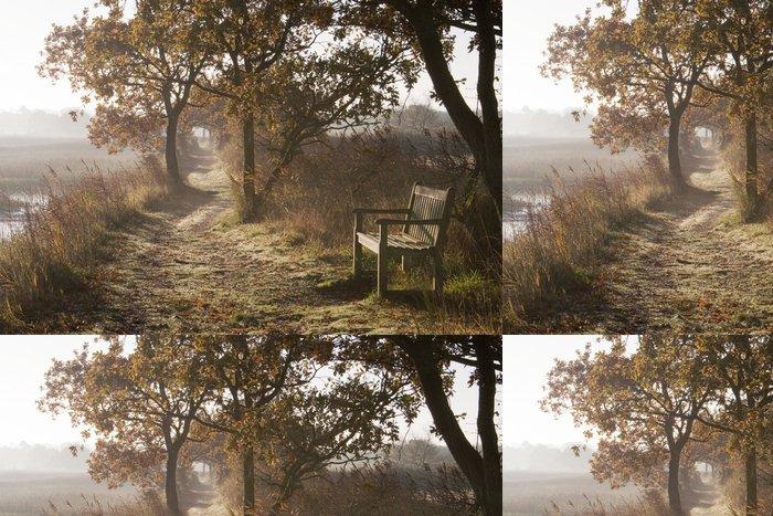 Tapeta Pixerstick Dawn podél řeky Blyth, Suffolk, Anglie - Roční období