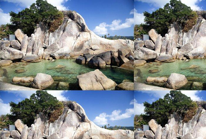 Tapeta Pixerstick Dědeček rock a Velká matka rock, Lamai Beach, Koh Samui - Asie