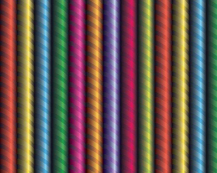 Tapeta Pixerstick Dekorativní barevné pásky omotané kolem trubky - Slavnosti