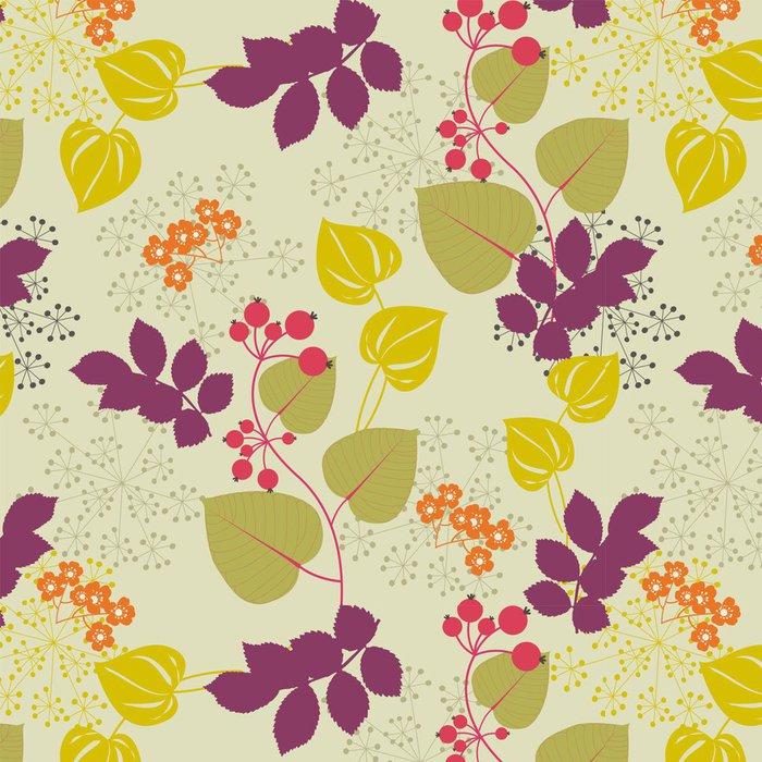 Vinylová Tapeta Dekorativní květinové pozadí - Pozadí