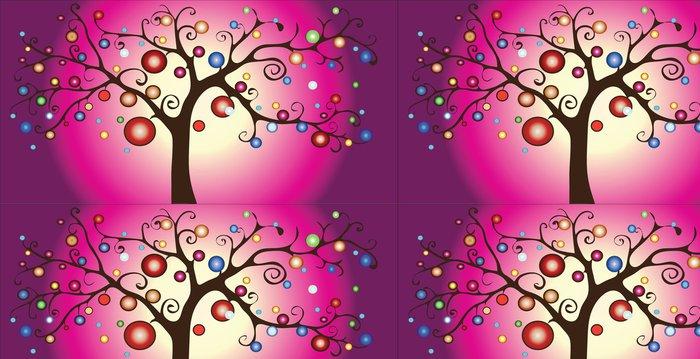Tapeta Pixerstick Dekorativní vektor strom - Pozadí