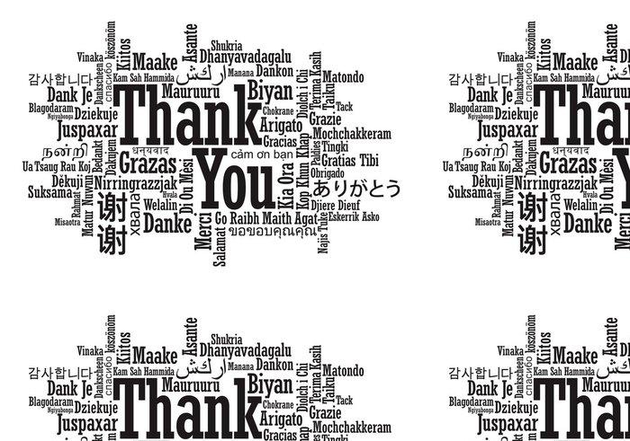 Tapeta Pixerstick Děkujeme Word Cloud ve vektorovém formátu - Život