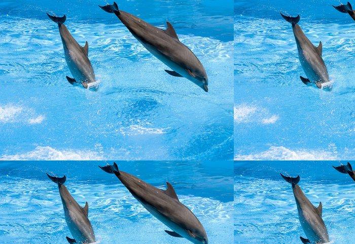 Tapeta Pixerstick Delfini saltano nell'acqua - Témata