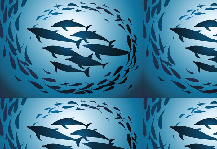 Vinylová Tapeta Delfíni - Vodní a mořský život