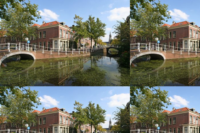 Tapeta Pixerstick Delft Canal - Evropa