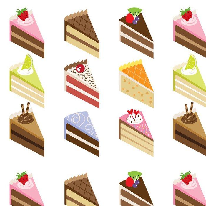 Tapeta Pixerstick Delicious Cake řezy - Do předsíně