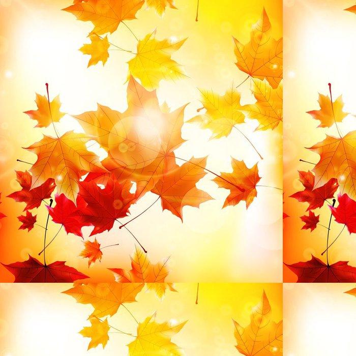 Tapeta Pixerstick Delikátní podzimní slunce s pohledem na zlaté obloze. - Mír