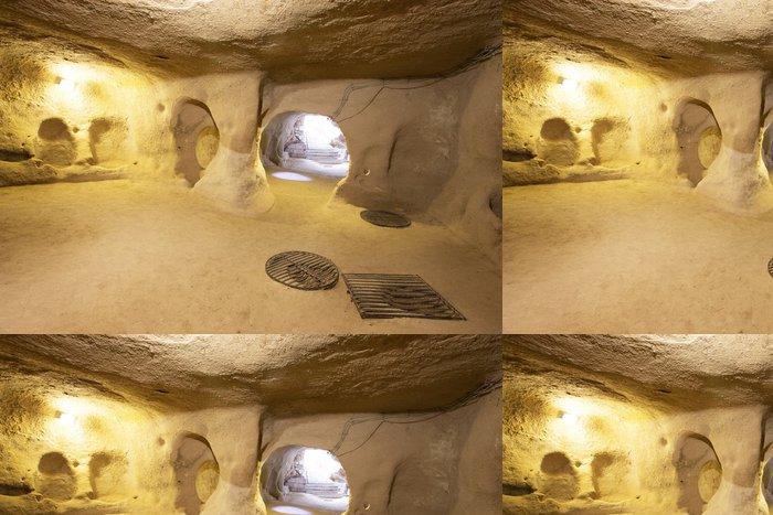 Tapeta Pixerstick Derinkuyu jeskynní město v Turecku Cappadocia - Památky