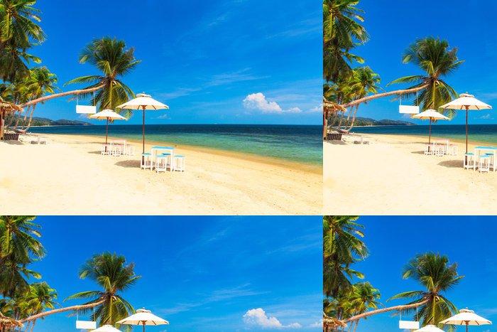 Vinylová Tapeta Deštník na tropické pláži - Příroda a divočina