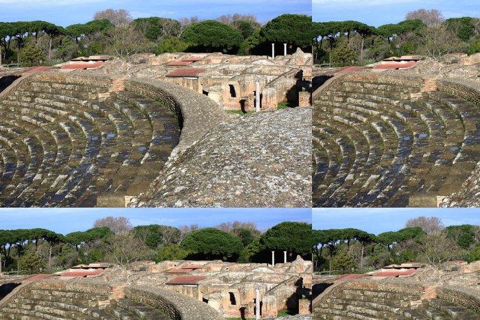 Tapeta Pixerstick Detail antického amfiteátru v Ostia Antica - Památky