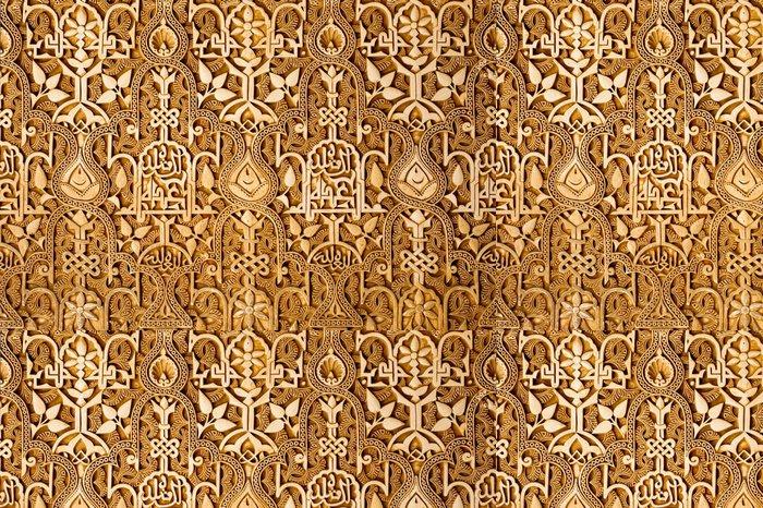 Tapeta Pixerstick Detail zeď v Alhambra v Granadě, Španělsko - Evropa