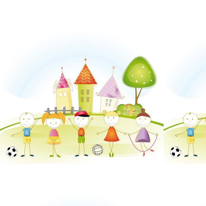 Tapeta Pixerstick Děti příběh - Zábava