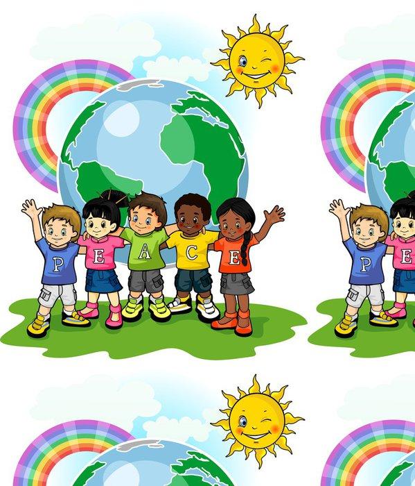 Tapeta Pixerstick Děti United World míru - Criteo