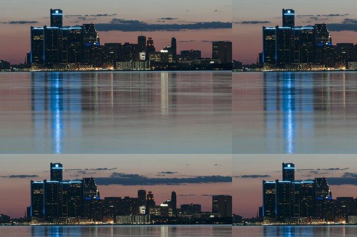 Tapeta Pixerstick Detroit skyline - Město