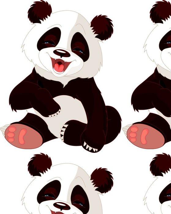 Vinylová Tapeta Dětská Panda smát - Nálepka na stěny