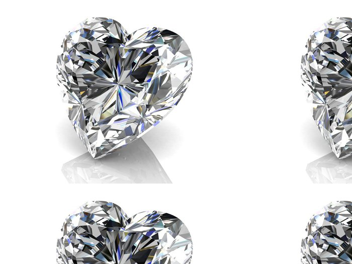 Vinylová Tapeta Diamantový šperk (vysoké rozlišení 3D obrázek) - Móda