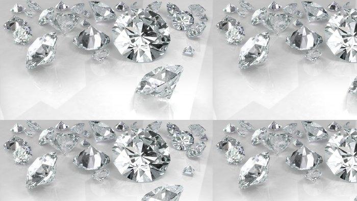 Tapeta Pixerstick Diamanty na bílém - Úspěch