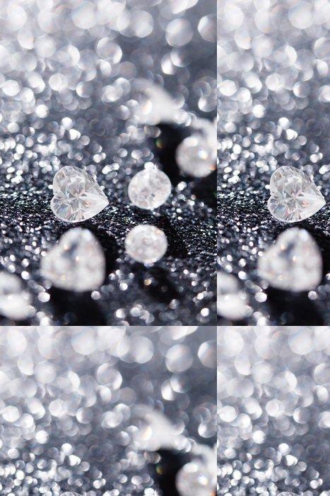 Tapeta Pixerstick Diamanty na černém pozadí - Móda