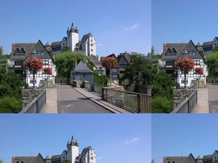 Vinylová Tapeta Diez - Lahn most a hrad - Evropa