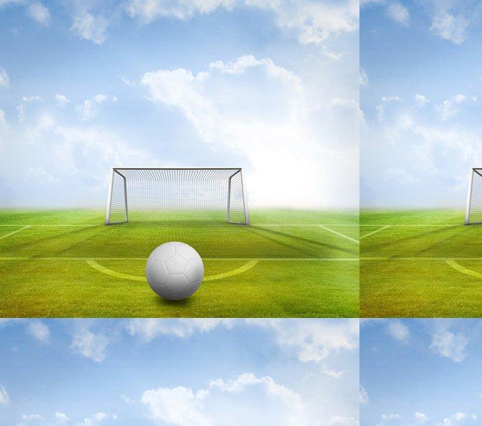 Tapeta Pixerstick Digitálně generované bílá kůže fotbal - Pozadí