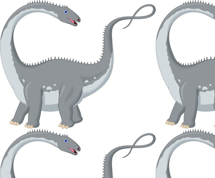Tapeta Pixerstick Dinosaur Cartoon - Nálepka na stěny