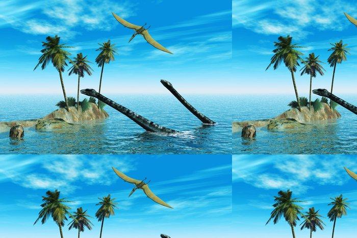 Tapeta Pixerstick Dinosaurů ve vodě - Témata