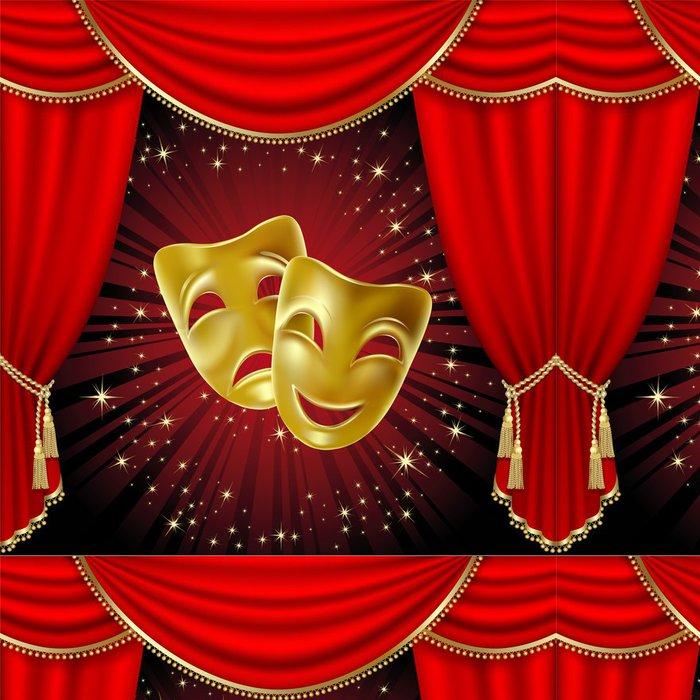 Vinylová Tapeta Divadelní masky - Veřejné budovy