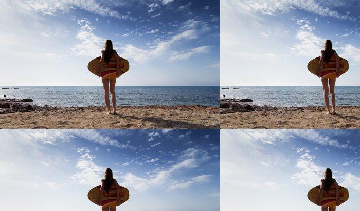 Tapeta Pixerstick Dívka s těla surfovací prkno - Prázdniny