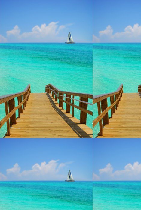 Tapeta Pixerstick Dock a plachetnice - Prázdniny