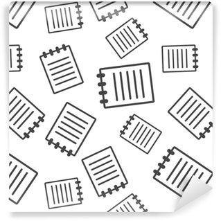 Vinylová Tapeta Dokument bezproblémové vzorek pozadí. obchodní ploché vektorové ilustrace. značka symbolu znaku stránky.