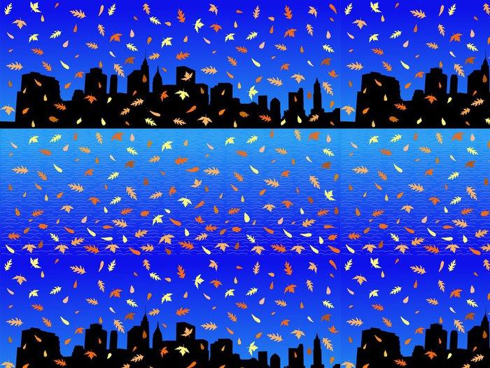 Tapeta Pixerstick Dolní Manhattan skyline na podzim - Americká města