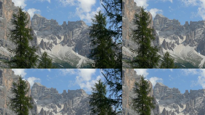 Tapeta Pixerstick Dolomites - Hory