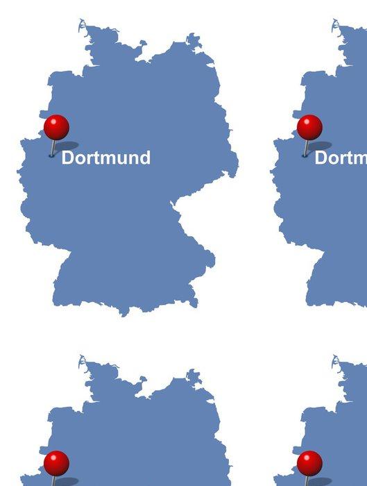 Tapeta Pixerstick Dortmund Německo na mapě - Evropa