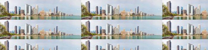 Tapeta Pixerstick Downtown Chicago, IL slunečného dne - Amerika